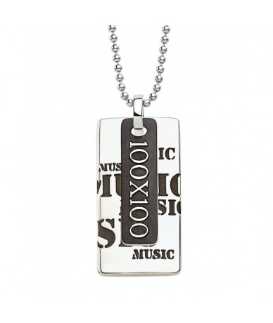 MUSIC pendant with chain