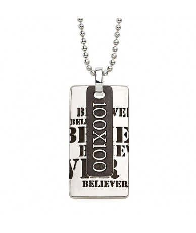 BELIEVER pendant with chain