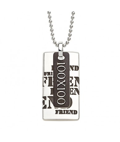 FRIEND pendant with chain